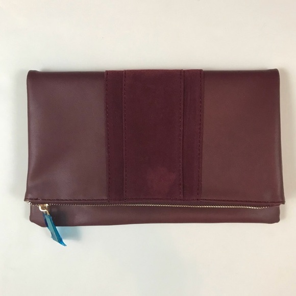 summer & rose Handbags - Brand new - never used vegan maroon clutch